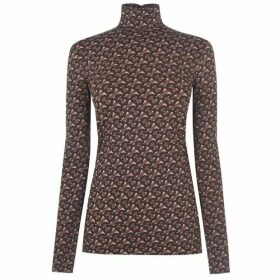 Burberry All Over Logo Roll Neck Top