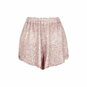 Walk Of Shame Pink Sequin Shorts