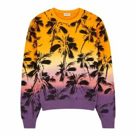 Saint Laurent Printed Cotton-jersey Sweatshirt