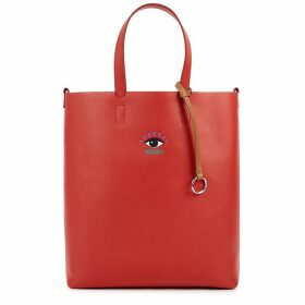 Kenzo Small Red Leather Tote