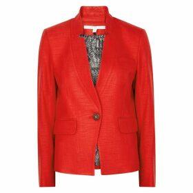 Veronica Beard Farley Red Woven Dickey Blazer