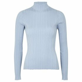 Acne Studios Katina Blue Ribbed Cotton-blend Top