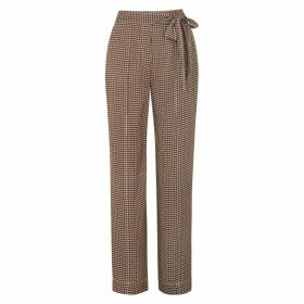 Diane Von Furstenberg Sonia Printed Wide-leg Trousers