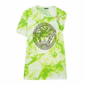 Versace Tie-dye Medusa Cotton T-shirt