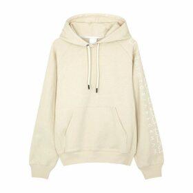 Reebok X Victoria Beckham Ecru Logo-print Hooded Cotton Sweatshirt