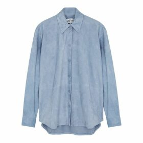 Loewe Light Blue Suede Shirt