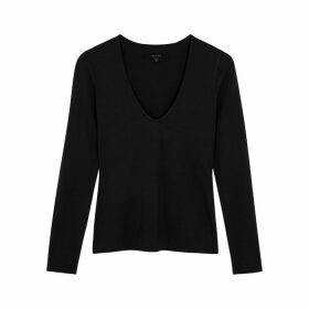 J Brand V-neck Stretch-jersey Top