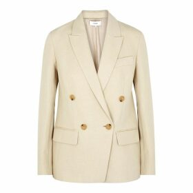 Vince Cream Double-breasted Blazer