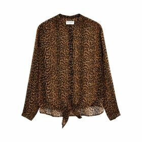 Saint Laurent Leopard-print Wool Shirt