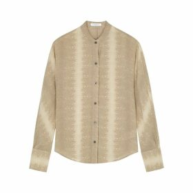 Equipment Pavotta Python-print Silk Shirt