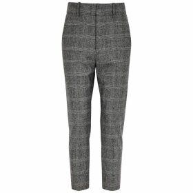 Isabel Marant Étoile Noah Checked Slim-leg Wool-blend Trousers
