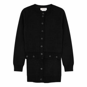 Alexander McQueen Black Wool-blend Cardigan