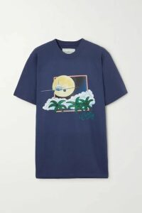Casablanca - Printed Cotton-jersey T-shirt - Navy