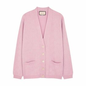 Gucci GG Metallic-knit Wool-blend Cardigan