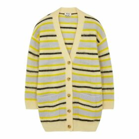 Acne Studios Keda Striped Fine-knit Cardigan