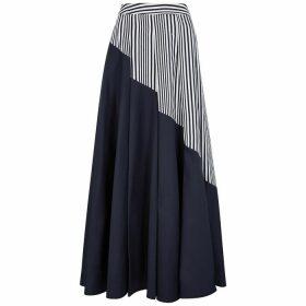 Palmer//harding Sunda Panelled Cotton Maxi Skirt