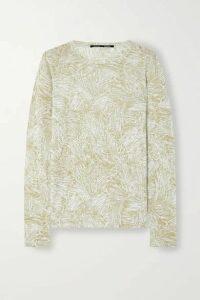 Proenza Schouler - Printed Slub Cotton-jersey T-shirt - Green
