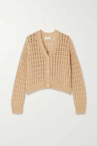 Vince - Cable-knit Cotton Cardigan - Beige