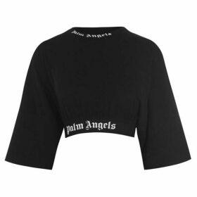 Palm Angels Logo Crop Top