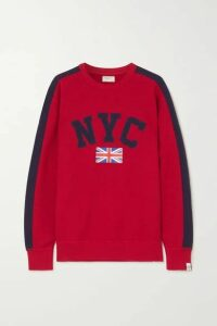rag & bone - Striped Appliquéd Printed Cotton-jersey Sweatshirt - Red