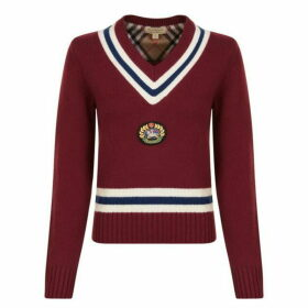 Burberry Embroidered Crest Wool Sweatshirt