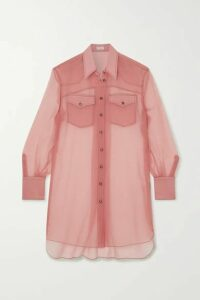 Brunello Cucinelli - Silk-chiffon Shirt - Blush