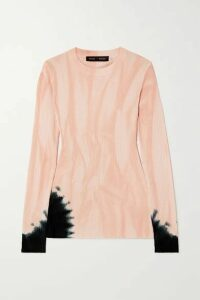 Proenza Schouler - Tie-dyed Ribbed-knit Sweater - Pink