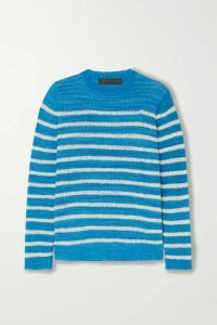 The Elder Statesman - Picasso Striped Cashmere Sweater - Blue