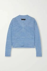 The Elder Statesman - Flaco Mélange Cashmere Sweater - Blue