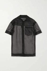 House of Holland - Embroidered Organza Shirt - Black