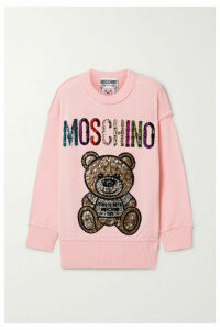 Moschino - Crystal-embellished Wool Sweater - Baby pink