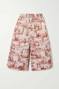Joseph - David Printed Twill Shorts - Brick