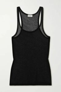 SAINT LAURENT - Cotton-jersey Tank - Black