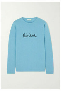Bella Freud - Riviera Embroidered Cashmere Sweater - Blue