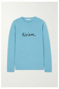 Bella Freud - Riviera Embroidered Cashmere Sweater - Blue