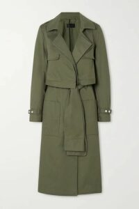 RtA - Harlow Cotton-gabardine Trench Coat - Army green