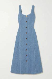 Adam Lippes - Denim Midi Dress - Light blue