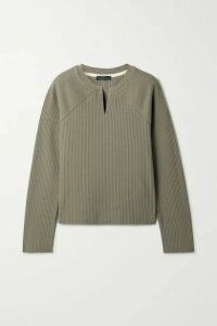 The Range - Ribbed Stretch-cotton Sweater - Green
