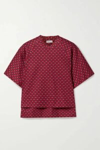 Rosetta Getty - Cocoon Jacquard-knit Top - Red