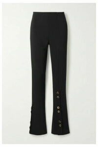 A.W.A.K.E. MODE - Button-embellished Crepe Flared Pants - Black