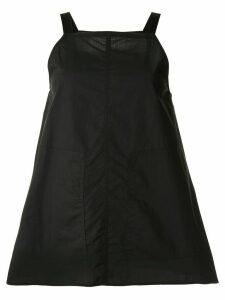 Lee Mathews square neck boxy cami top - Black