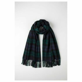 Johnstons Of Elgin Blackwatch Tartan Classic Cashmere Stole