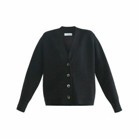 PAISIE - Paisie Ribbed Cardigan In Black