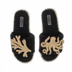 Artisan - 18Kt White Gold Cocktail Ring Blue Sapphire Octagon Shape Topaz