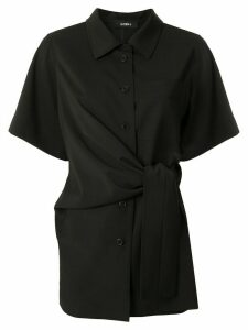 Goen.J knot detail shirt - Black