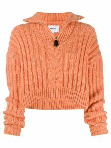 Nanushka Eria zip neck sweater - ORANGE