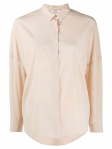 Peserico concealed button boxy fit shirt - NEUTRALS