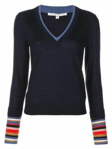 Veronica Beard knitted V-neck jumper - Blue