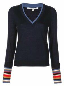 Veronica Beard knitted V-neck jumper - Blue