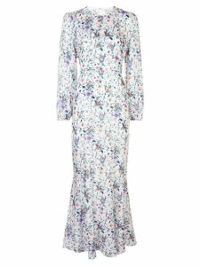 Fleur Du Mal georgette mermaid dress - White